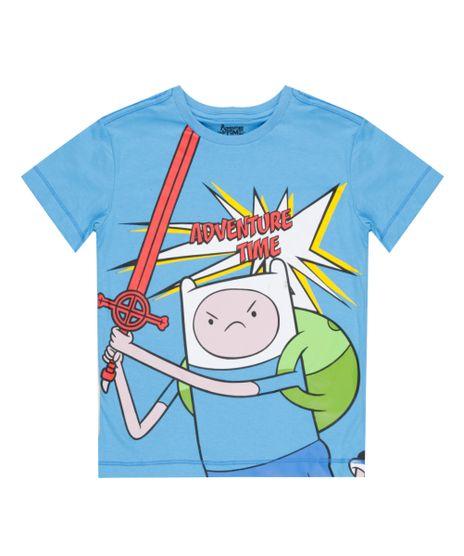 Camiseta-Hora-de-Aventura-Azul-8399727-Azul_1
