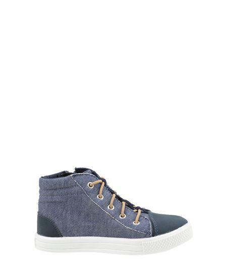 Tênis de Cano Alto Jeans Azul