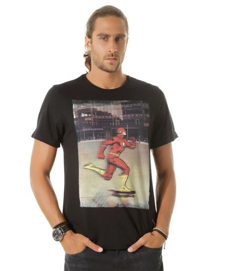 Camiseta Flash Preta