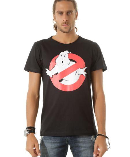Camiseta Caça-Fantasmas Preta