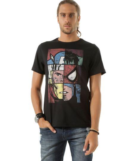 Camiseta Os Vingadores Preta