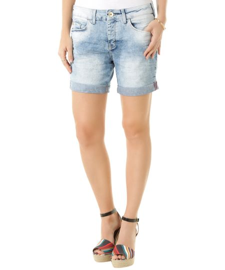 Bermuda Jeans Comfort Azul Claro