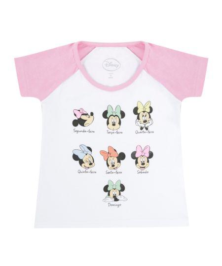 Blusa Minnie com Bolsa Branca