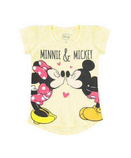 Blusa Minnie & Mickey Amarela