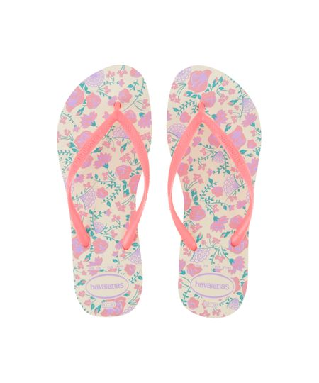 Chinelo Havaianas Floral Bege