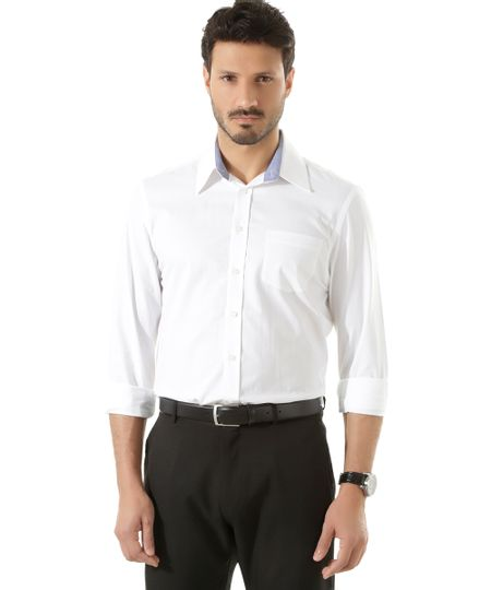 Camisa Social Comfort Off White