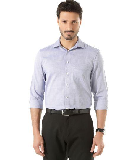 Camisa Social Comfort Xadrez Azul