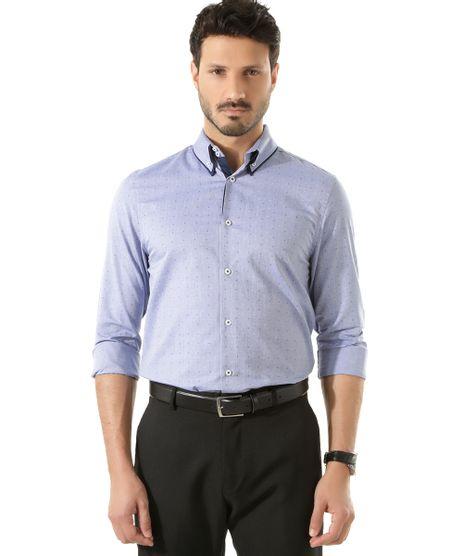 Camisa-Social-Slim-Estampada-Azul-8325840-Azul_1