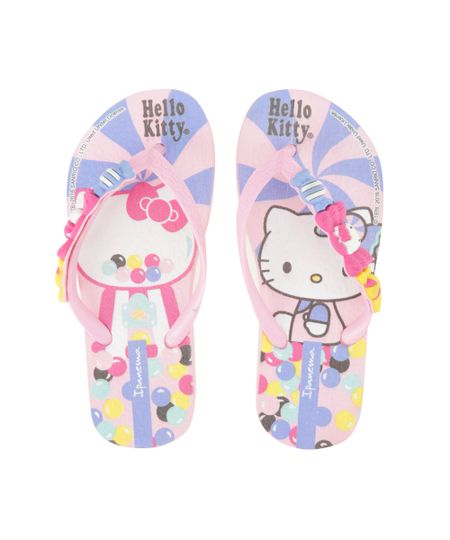Chinelo Ipanema Hello Kitty Rosa Claro