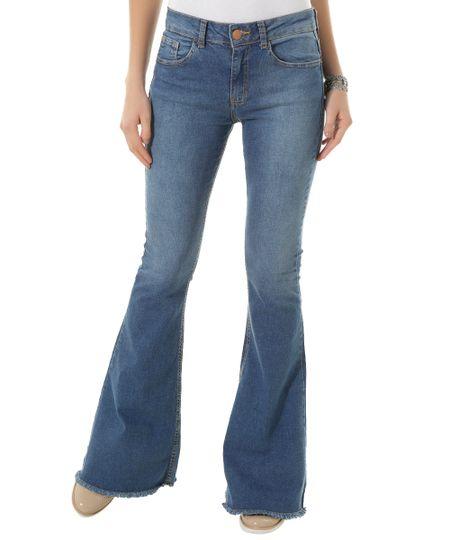 Calça Jeans Flare Azul Médio