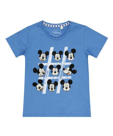 Camiseta Mickey Azul