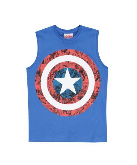 Regata Capitão América Azul