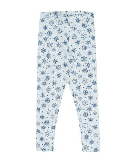 Calça Legging Estampada Frozen Azul Claro