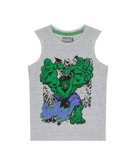 Regata Hulk Cinza Mescla