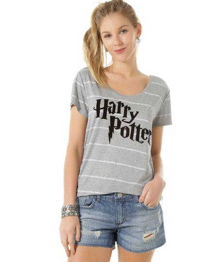 Blusa Harry Potter Cinza Mescla