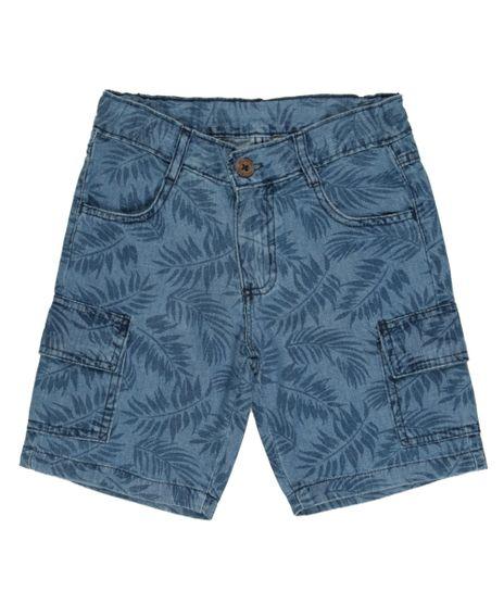 Bermuda-Cargo-Jeans-Estampada-de-Folhagens-Azul-Medio-8464054-Azul_Medio_1