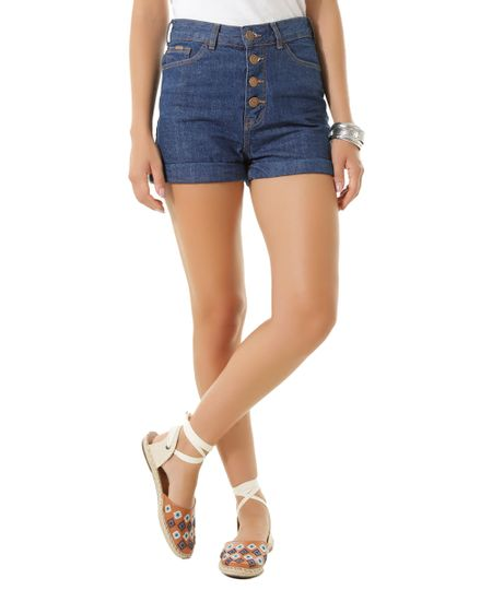 Short Hot Pant Jeans Dress To Azul Escuro