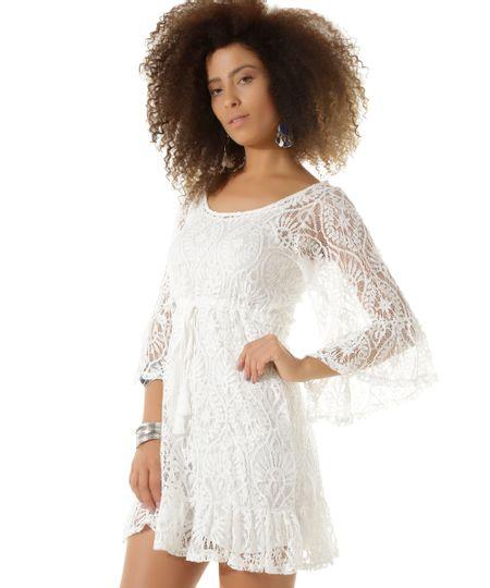 Vestido em Renda Dress To Off White