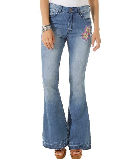 Calca-Jeans-Flare-com-Bordados-Dress-To-Azul-Claro-8433955-Azul_Claro_1