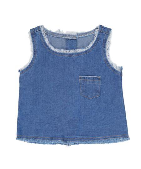Regata Jeans Azul Médio