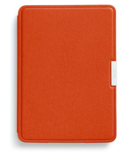 Capa Couro Amazon Kindle Paperwhite Laranja