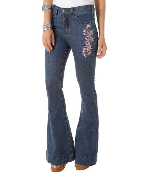 Calca-Jeans-Flare-com-Bordados-Dress-To-Azul-Escuro-8433947-Azul_Escuro_1