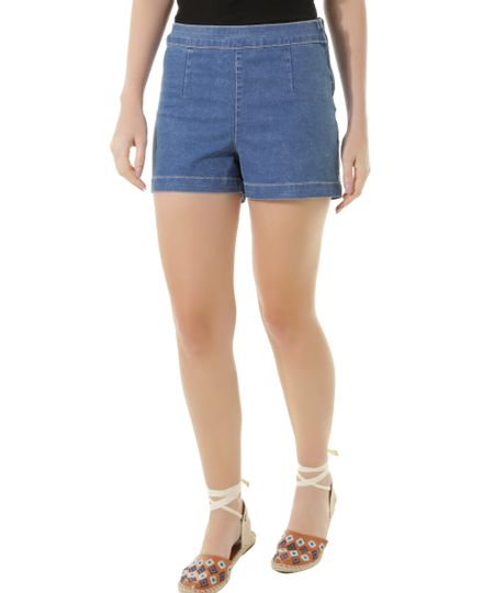 Short Hot Pant Jeans Dress To Azul Médio