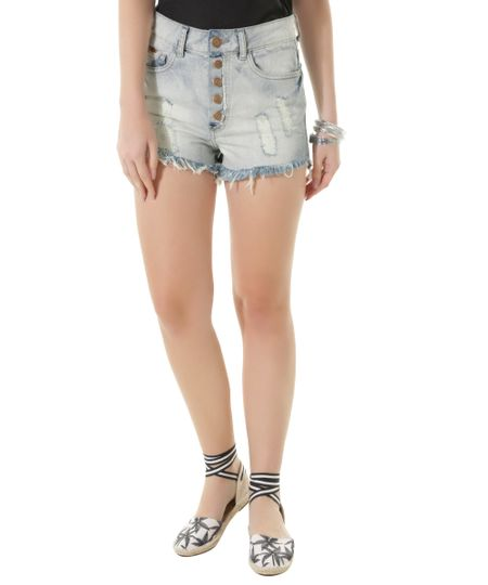 Short Hot Pant Jeans Dress To Azul Claro