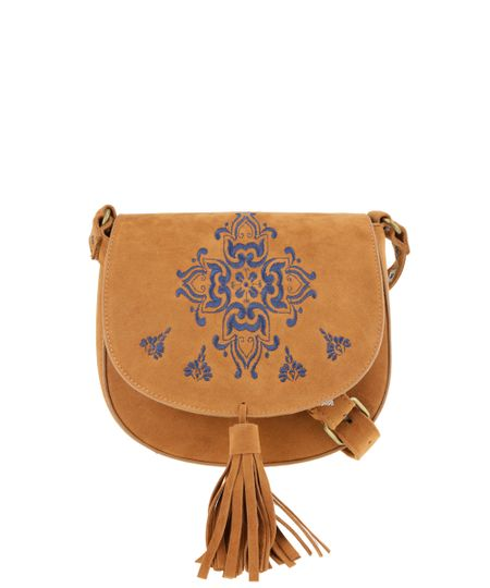 Bolsa Transversal Dress To Caramelo