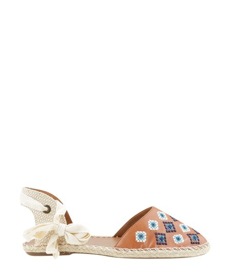 Espadrille com Bordados Dress To Caramelo