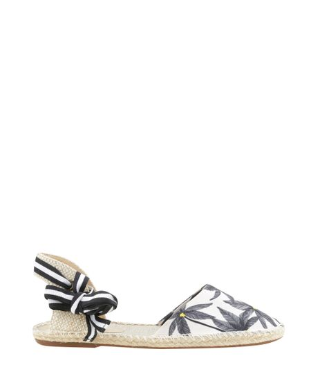 Espadrille Estampada Coqueiros Dress To Off White