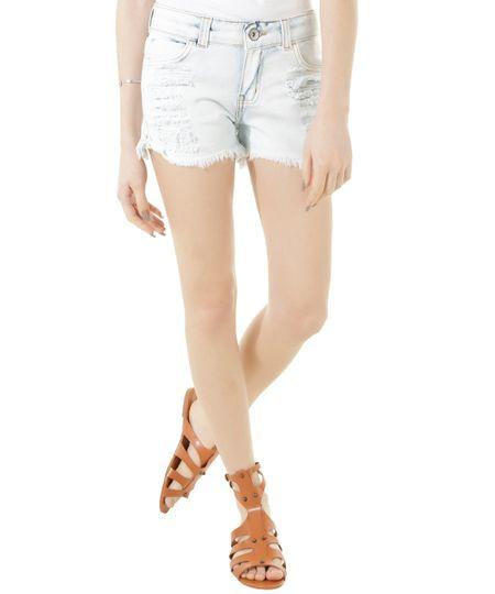 Short Jeans Dress To Azul Claro
