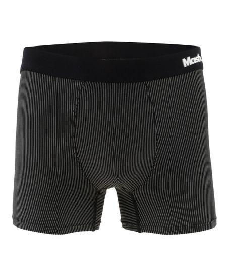 Cueca Boxer Sem Costura Listrada Mash Preta