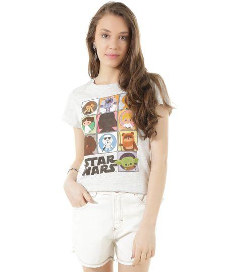 Blusa Star Wars Cinza Mescla