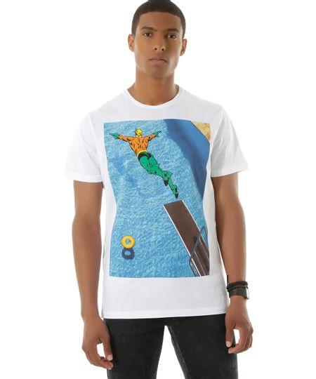 Camiseta Aquaman Branca