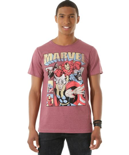 Camiseta Os Vingadores Vinho
