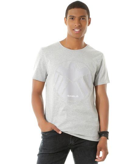 Camiseta S.H.I.E.L.D. Cinza Mescla