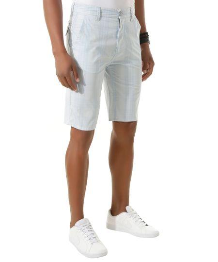 Bermuda Slim Xadrez Azul Claro