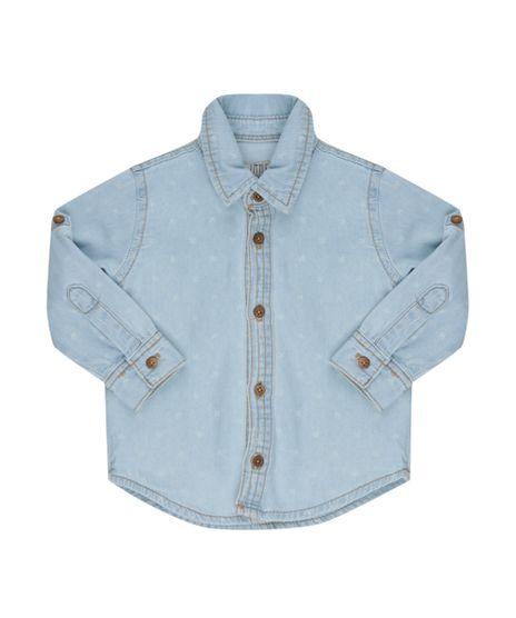 Camisa-Jeans-Estampada-de-Passaros-Azul-Claro-8453216-Azul_Claro_1