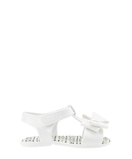 Sandália Pimpolho com Laço Branca