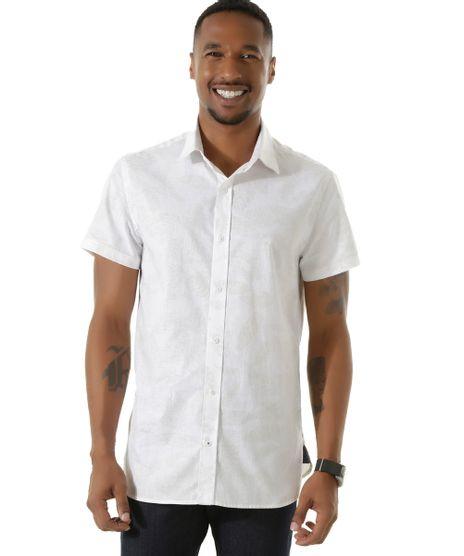 Camisa-Slim-Estampada-de-Folhagem-Branca-8453783-Branco_1