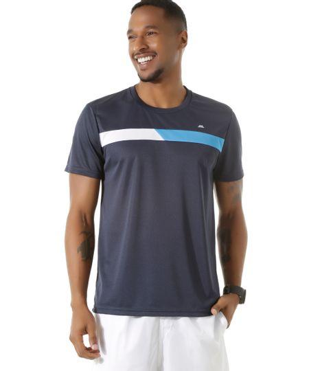 Camiseta Ace Basic Dry Azul Marinho