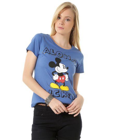 Blusa Mickey Azul