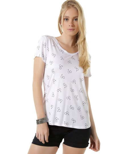 Blusa Estampada Harry Potter Branca