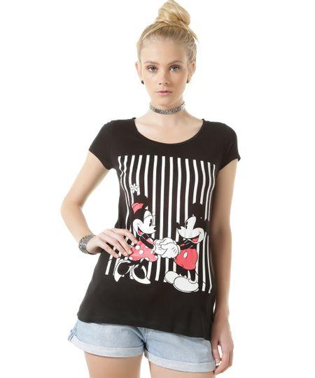 Blusa Mickey e Minnie Preta
