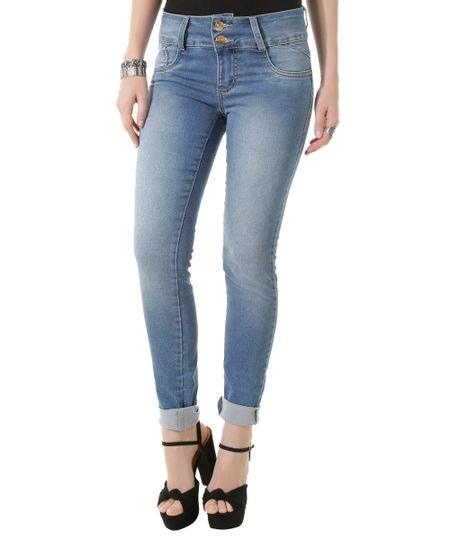 Calça Jeans Super Skinny Sawary Azul Claro