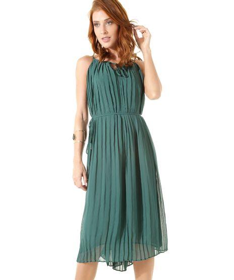 Vestido-Midi-Plissado-Iodice-Verde-8357195-Verde_1