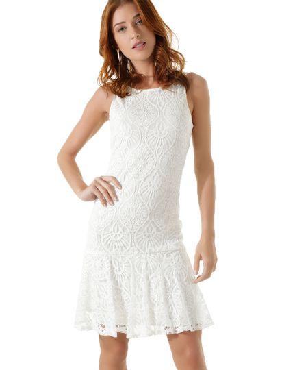 Vestido em Renda Iódice Off White