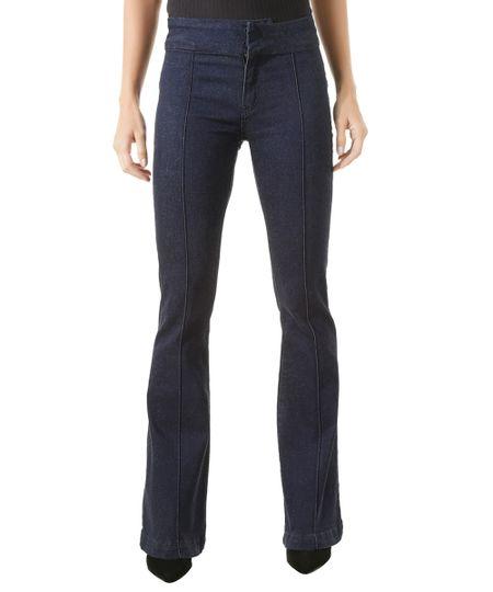 Calça Jeans Flare Iódice Azul Escuro