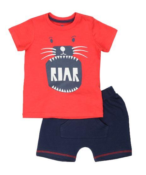 Conjunto-de-Camiseta-Vermelha---Bermuda-Azul-Marinho-8447547-Azul_Marinho_1